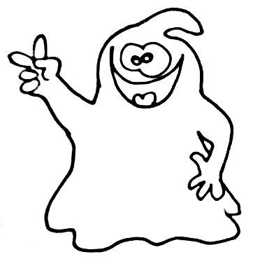 Halloween Geist 4 Wuschels Malvorlagen