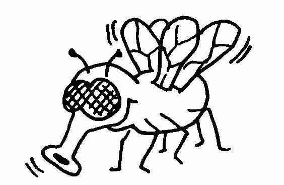 Mücken | Wuschels Malvorlagen