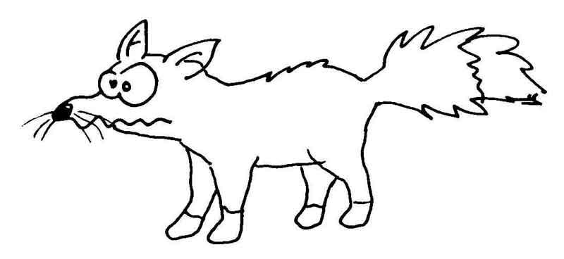 Fuchs malen einfach