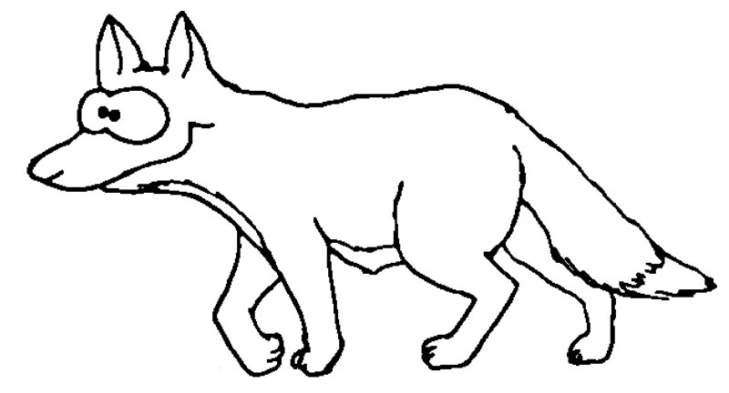Füchse | Wuschels Malvorlagen